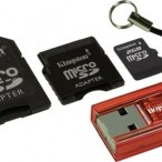 Micro SD 2GB w/SD & Mini Adapters + Card Reader