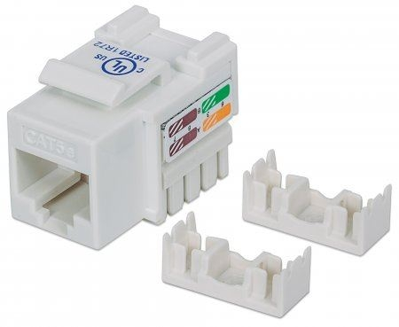 INT Cat 5 Keystone Jack, UTP, White, Punch-down - Mrežna oprema