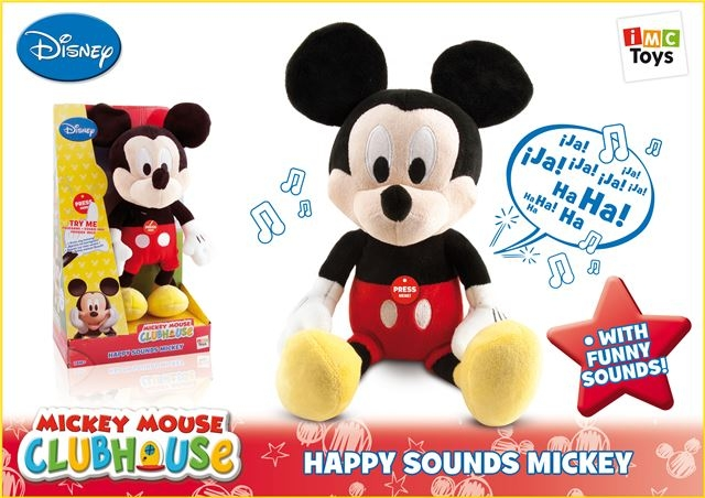PliÅ¡ Happy Sounds Mickey - Plišane igračke