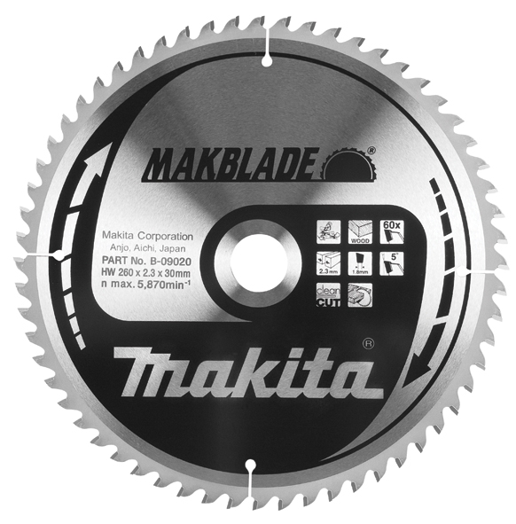 LIST TEST.260X30/80Z DR.MAKITA - List testere za drvo